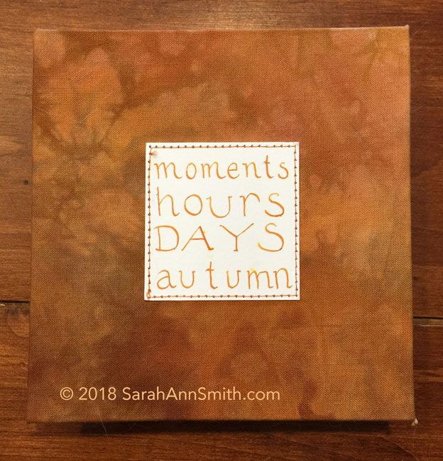 Moments, Hours, DAYS, Autumn